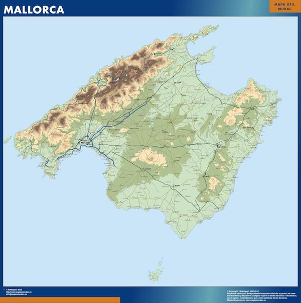 Mapa De Las Islas Baleares Tienda Mapas