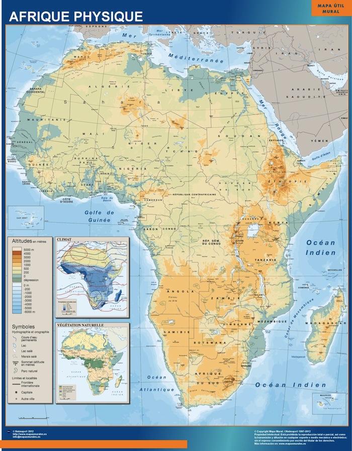 Africa fisico mural