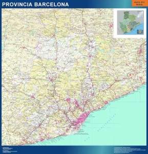 Mapa Mural barcelona