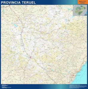 mapa provincia Teruel