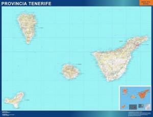 mapa mural tenerife