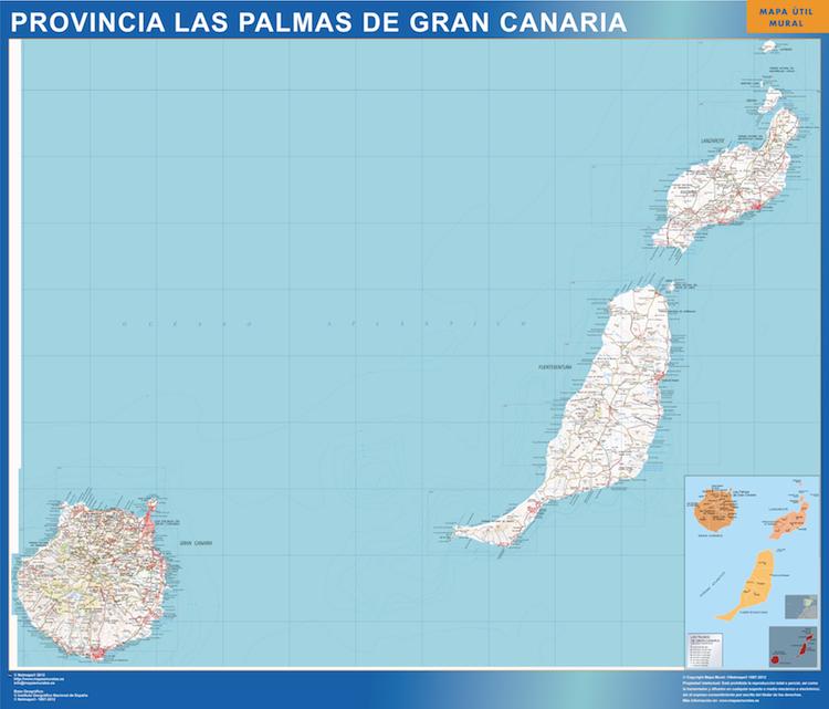 mapa provincia las Palmas-gran-canaria