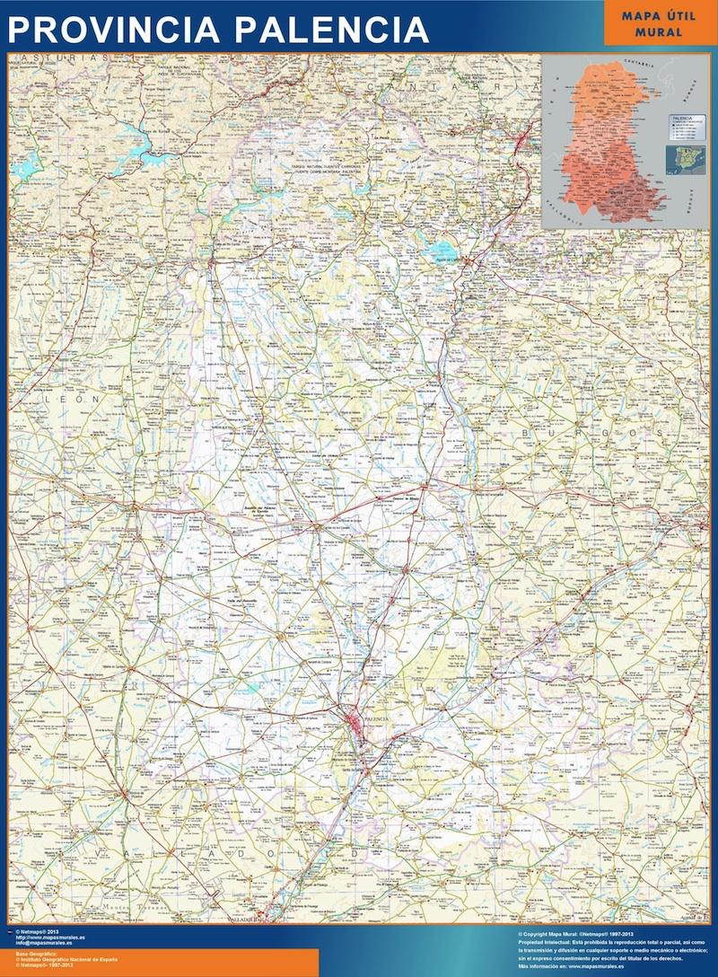 mapa provincia palencia