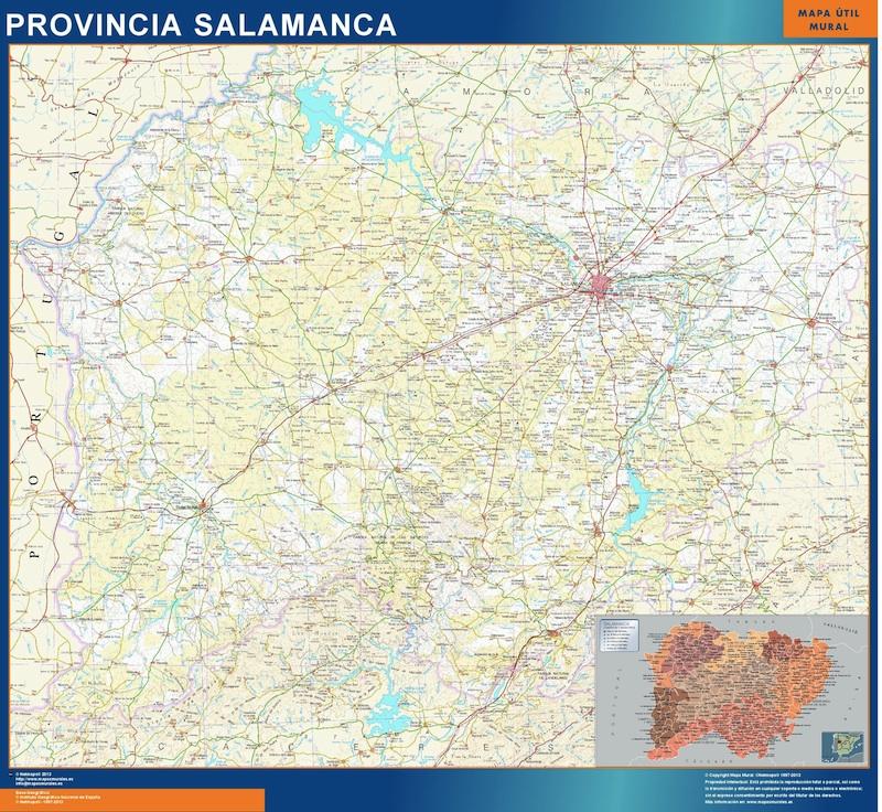 Mapa provincia salamanca mapas posters mundo y espa a for Codigo postal del barrio de salamanca en madrid