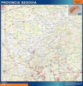 mapa provincia segovia