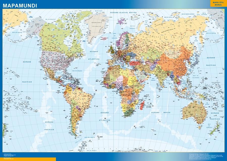 Mapas mapamundi grande Mapamundi Grande 125 X 175 cm