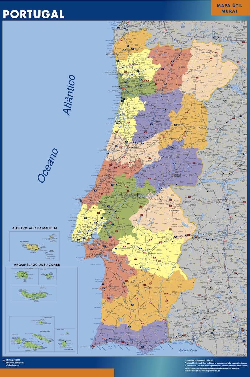 Mapa Portugal mural