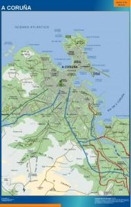 mapa A Coruna accesos