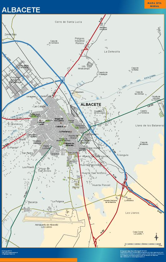 mapa Albacete accesos