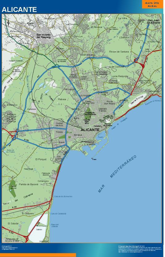 mapa Alicante accesos