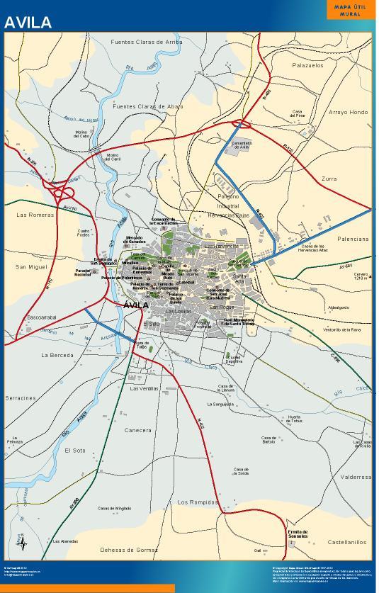 mapa Avila accesos