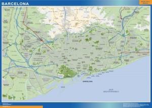 mapa Barcelona accesos