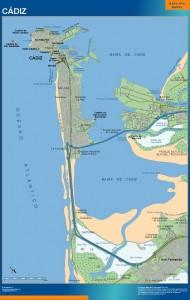 mapa Cadiz accesos