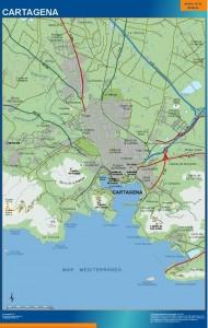 mapa Cartagena accesos