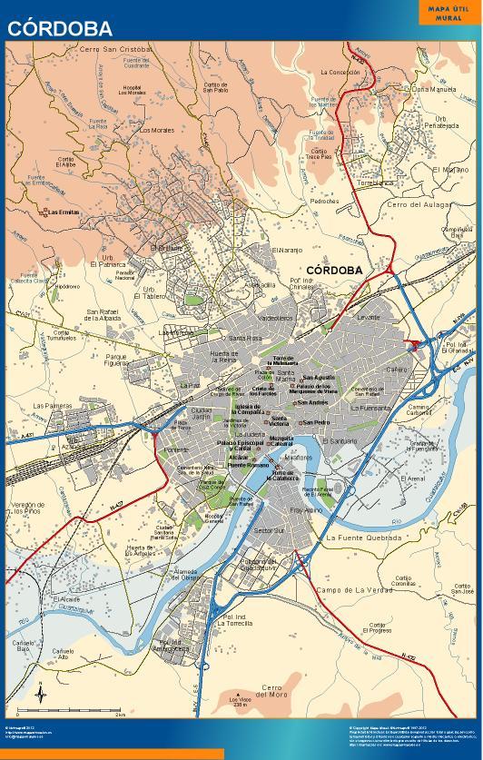 mapa Cordoba accesos