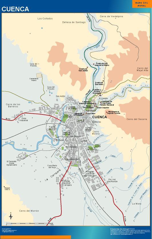 mapa Cuenca accesos