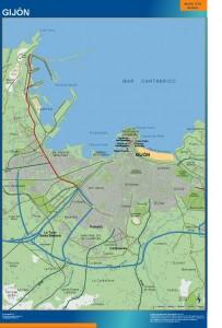 mapa Gijon accesos