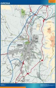mapa Girona accesos