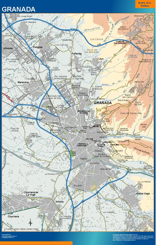 mapa Granada accesos