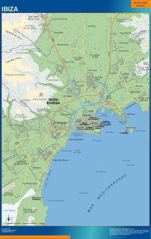 mapa Ibiza accesos