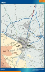 mapa Jaen accesos