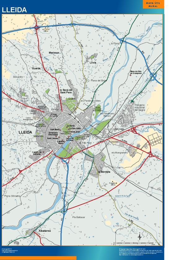 mapa Lleida accesos Lérida