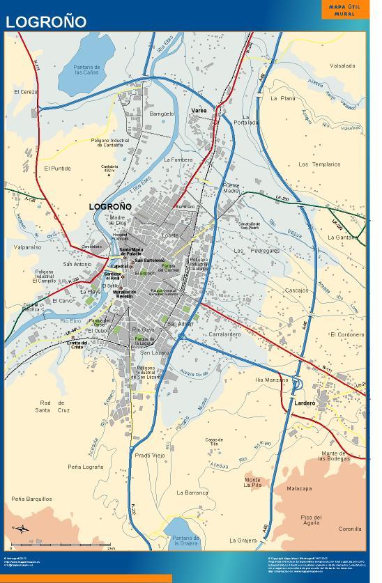 mapa Logrono accesos