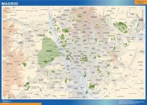 mapa Madrid accesos