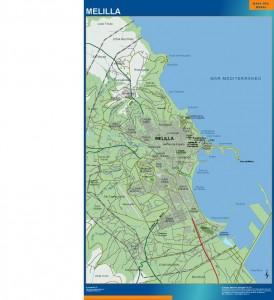 mapa Melilla accesos