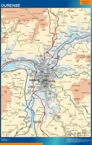 mapa Ourense accesos
