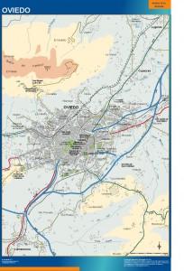 mapa Oviedo accesos