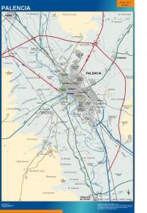 mapa Palencia accesos