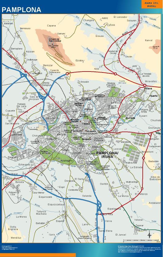 mapa Pamplona accesos