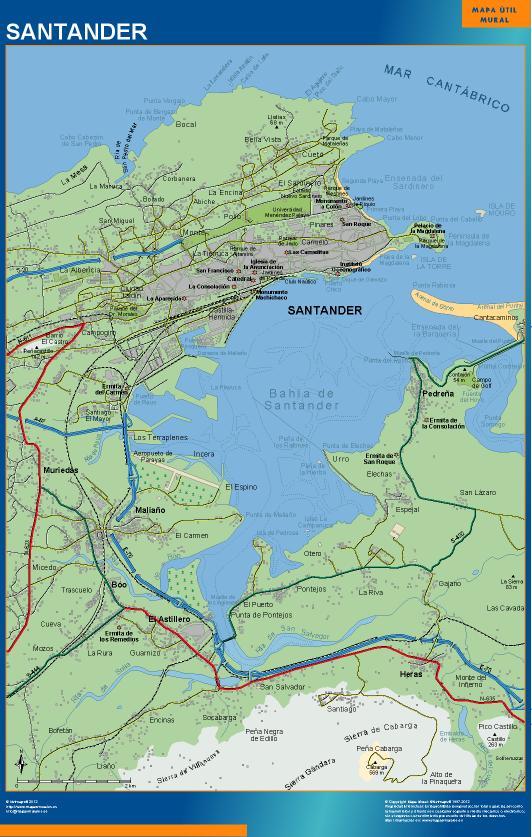 mapa Santander accesos