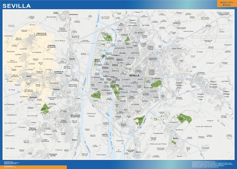 mapa Sevilla accesos