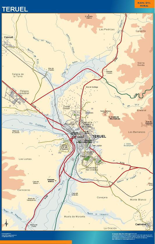 mapa Teruel accesos
