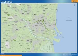 mapa Valencia accesos