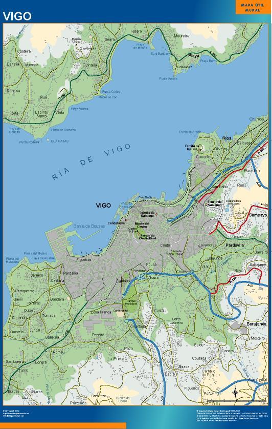 mapa Vigo accesos