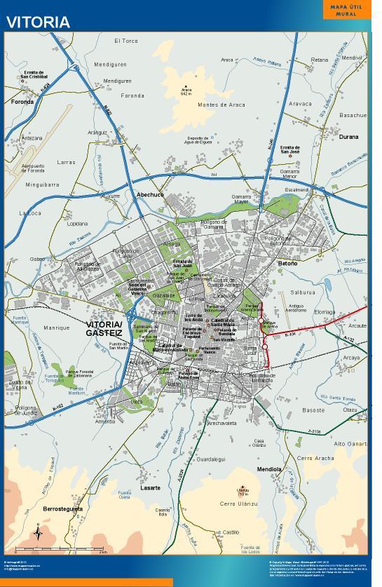 mapa Vitoria accesos Gasteiz