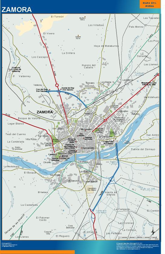 mapa Zamora accesos