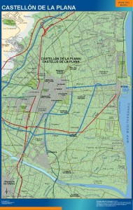 mapa castellon de la plana accesos