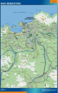 mapa san sebastian accesos donostia