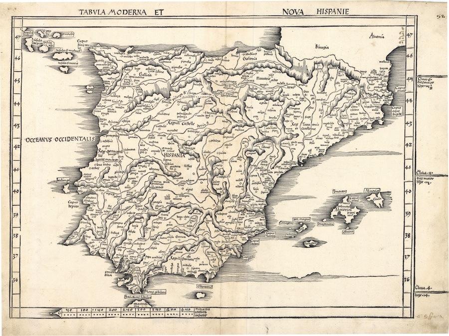 Mapa España 1513