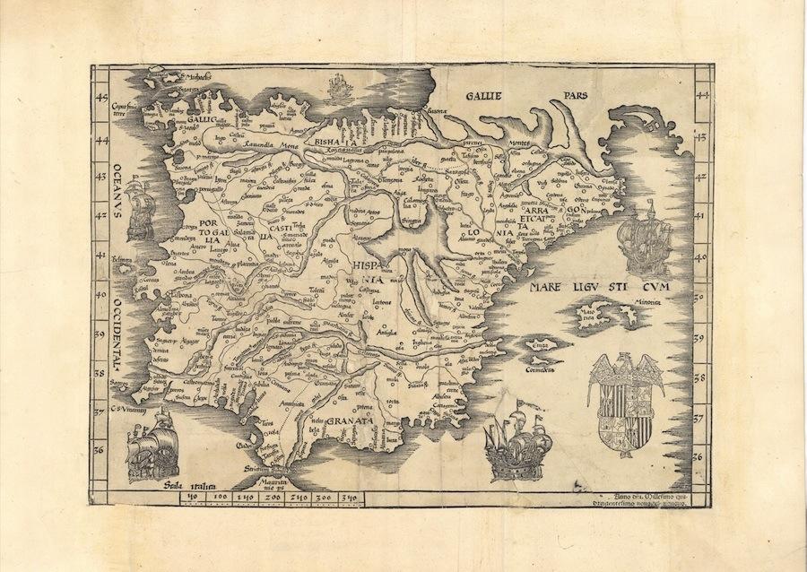 Mapa España 1535