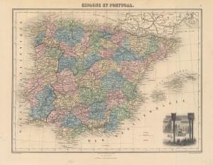 Mapa España 1891