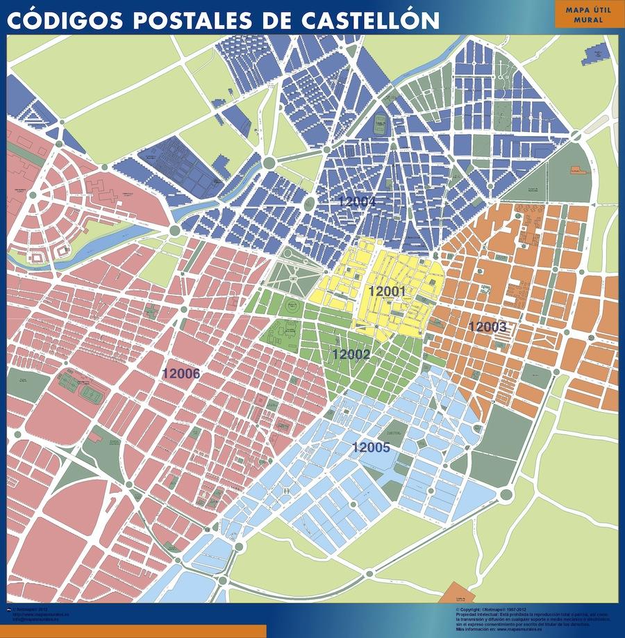 Mapas Castellon De La Plana Tienda Mapas