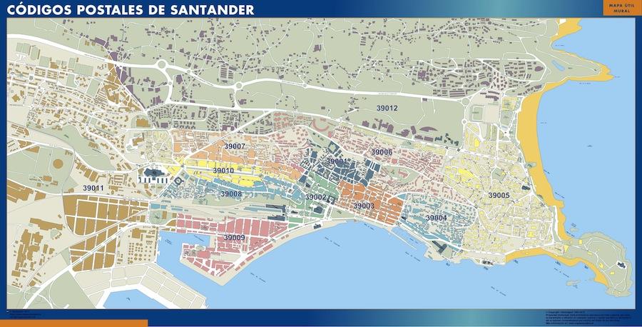 Mapa santander c digos postales mapas posters mundo y espa a for Codigo postal calle salamanca valencia