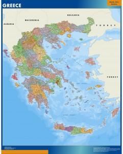 mapa grecia