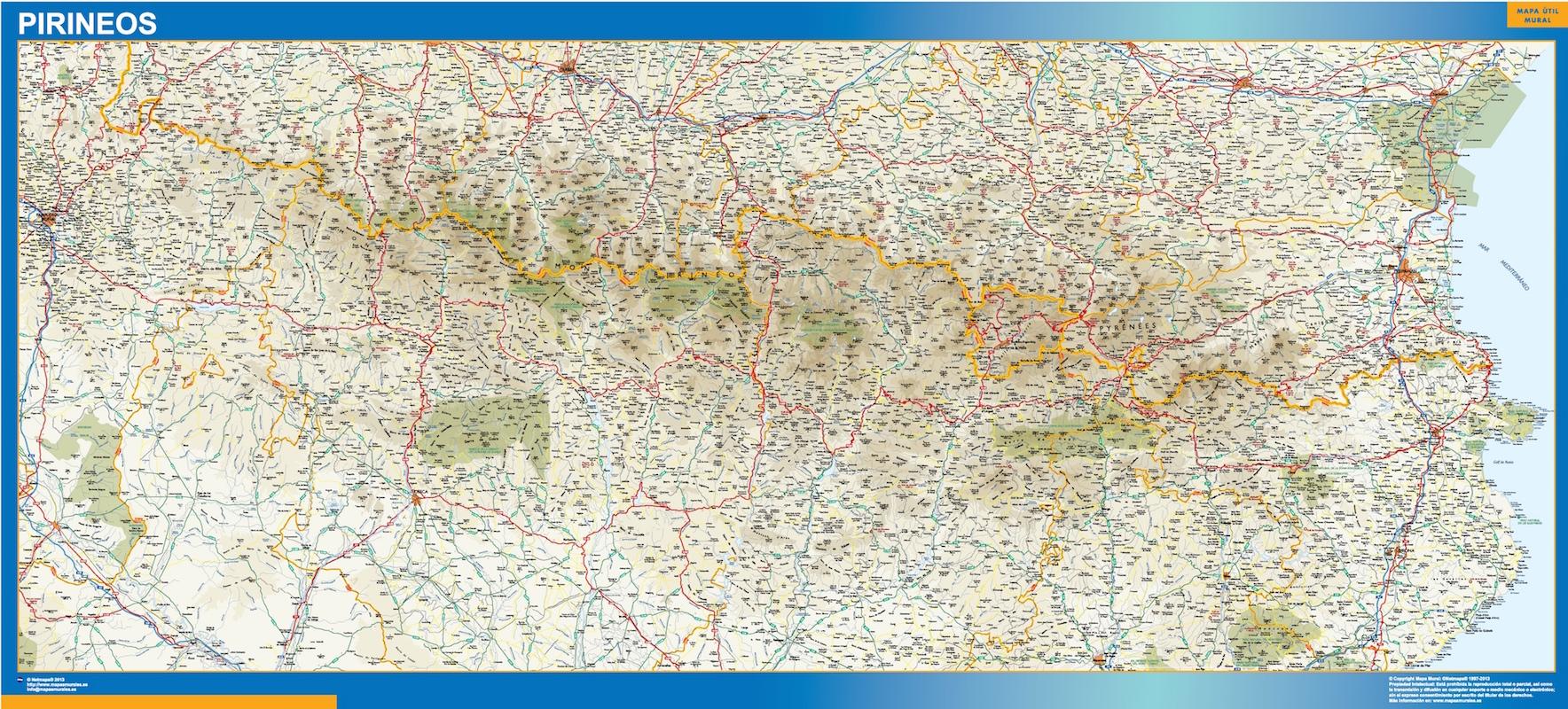 Mapa Carreteras Pirineos
