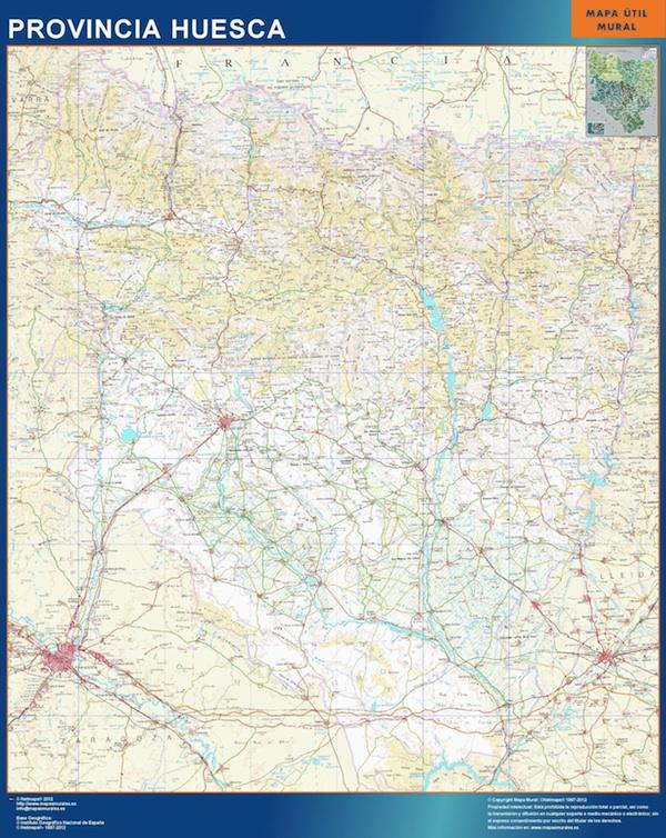 Mapas arag n mapas murales espa a y el mundo part 3 - Vinilo huesca ...